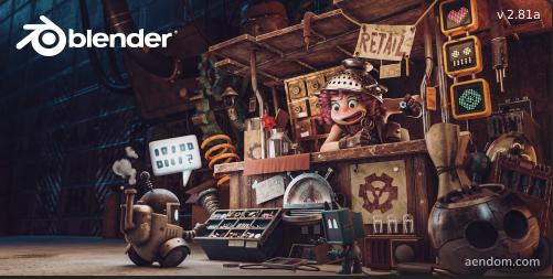 Scren splash de Blender 2.8