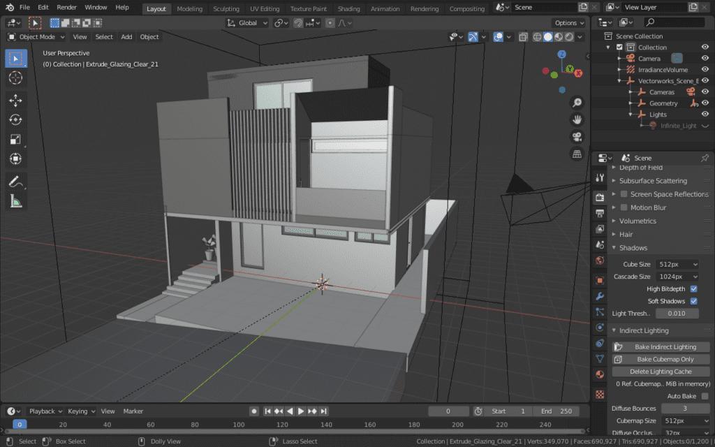 Proyecto de Trignum Arquitectura en Blender