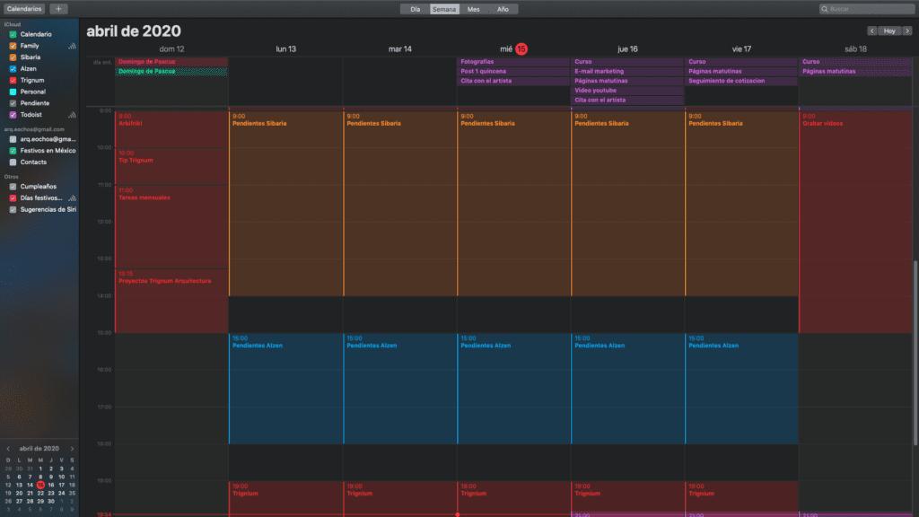Calendario Time Blocking
