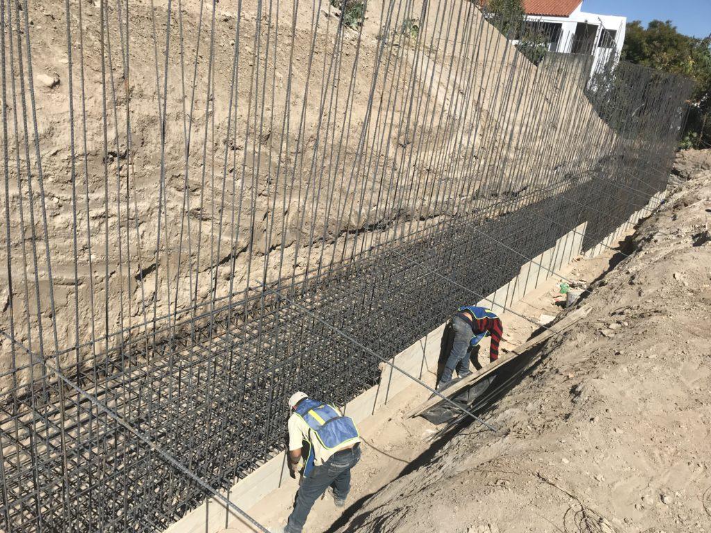 Cimentación en muros de contención